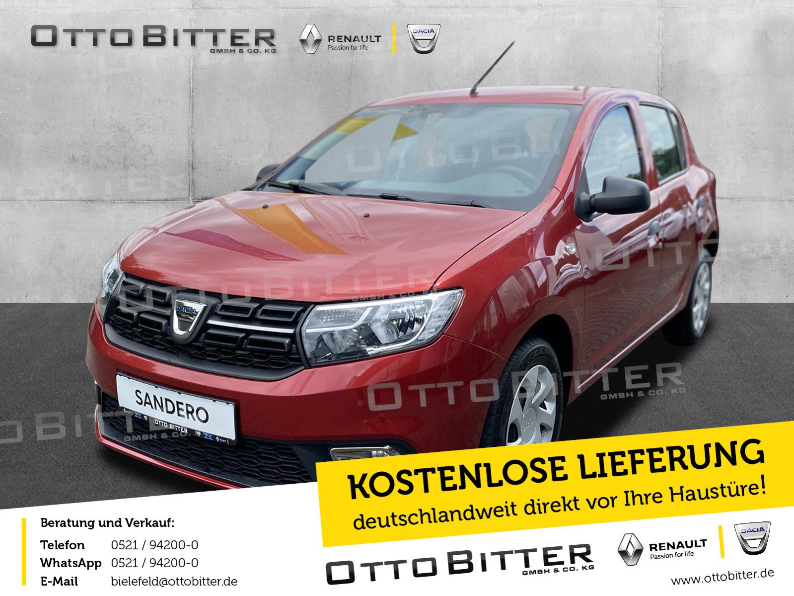 Dacia Sandero SCe75 Essential RADIO/BLUETOOTH/KLIMA, Jahr 2018, Benzin