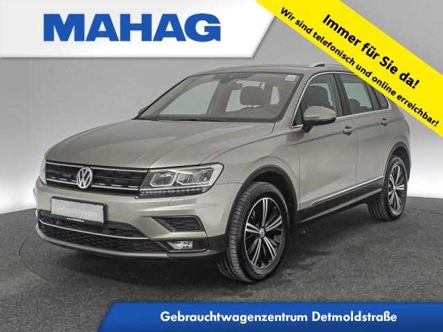 Volkswagen Tiguan 1.4 TSI 4mot. Highline Navi LED ParkPilot Bluetooth 18Zoll DSG, Jahr 2017, Benzin