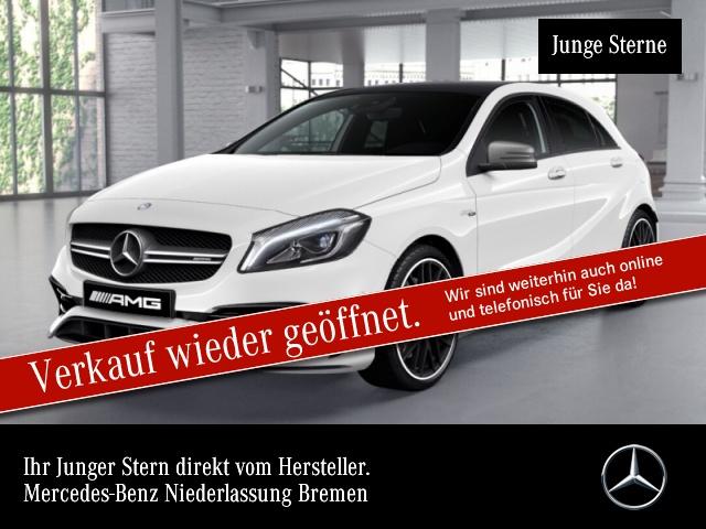 Mercedes-Benz A 45 AMG 4Matic Sportpaket Bluetooth Navi LED, Jahr 2016, Benzin