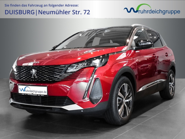 Peugeot 3008 Allure Pack 1.2 PureTech 130 EU6d LED Navi Keyless Parklenkass. Rückfahrkam. Fernlichtass., Jahr 2021, Benzin