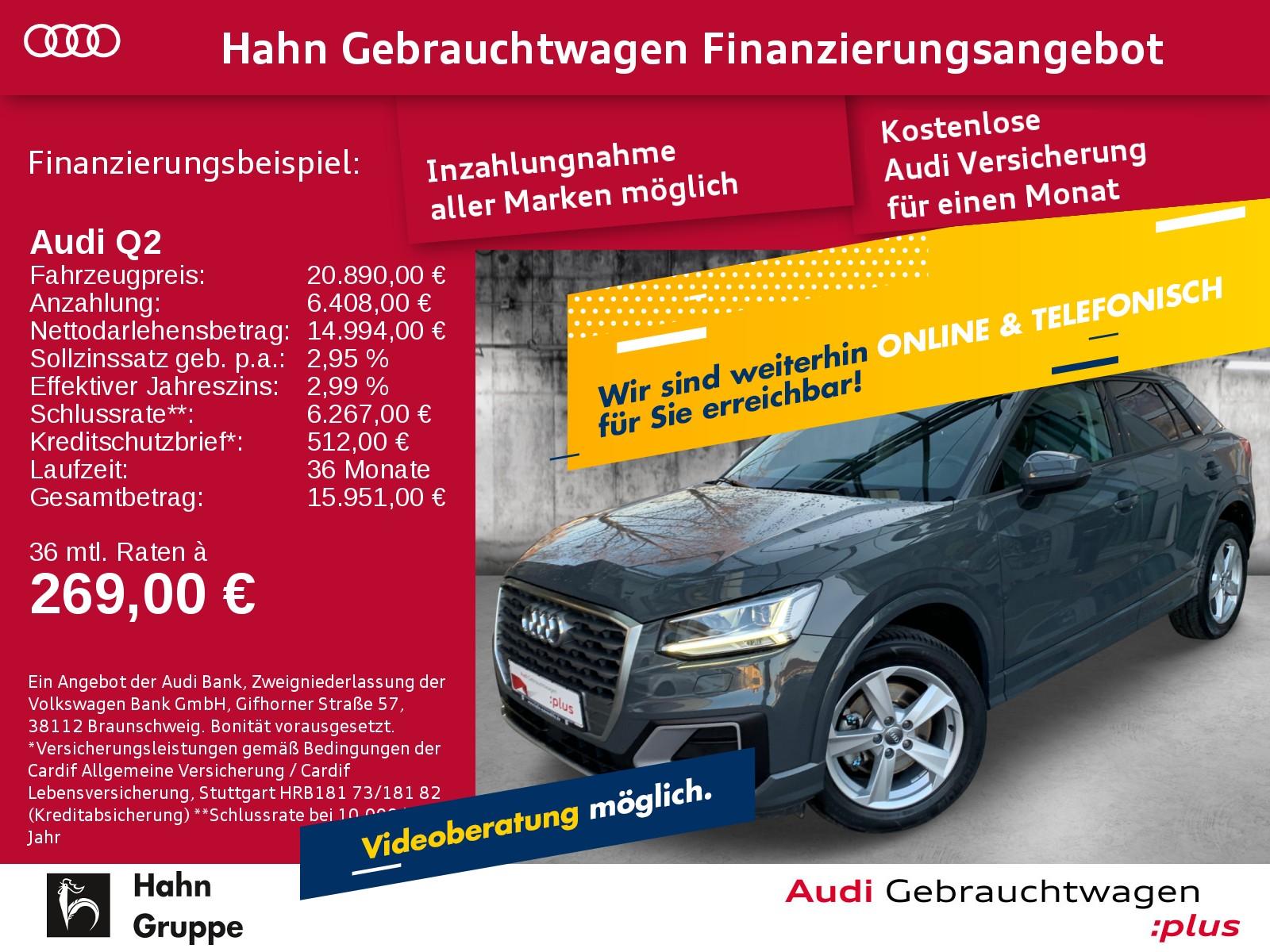 Audi Q2 1.4 TFSI Navi LED Sitzh EInpark Klima, Jahr 2017, Benzin