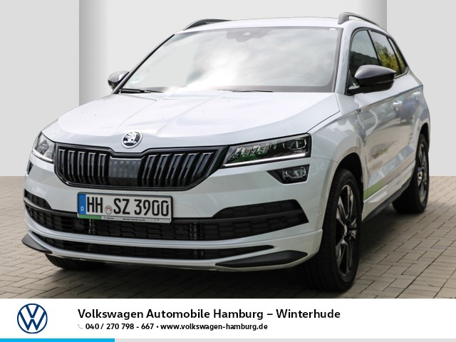 Skoda KAROQ SPORTLINE 2.0 TDI 140 kW DSG 4x4 AHK schwenkbar Navi Klima LED Std.Hzg LM, Jahr 2020, Diesel