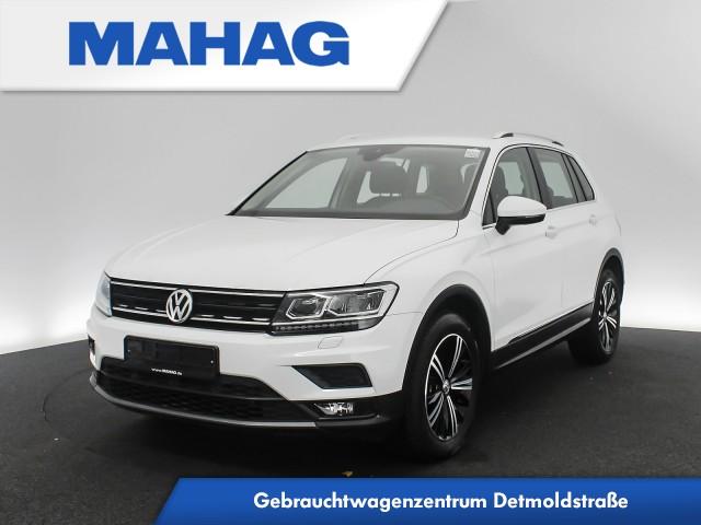 Volkswagen Tiguan 2.0 TSI 4mot. Comfortline Navi LED AHK Kamera AppConnect Sitzhz. ParkAssist FahrerAssist 18Zoll DSG, Jahr 2017, Benzin