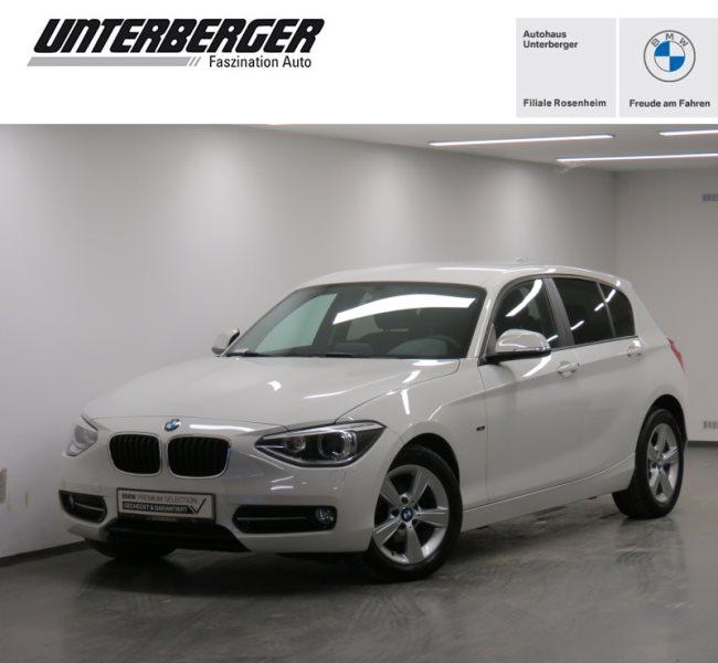 BMW 114i 5-Türer Sport Line Xenon Klima Shz PDC, Jahr 2013, Benzin