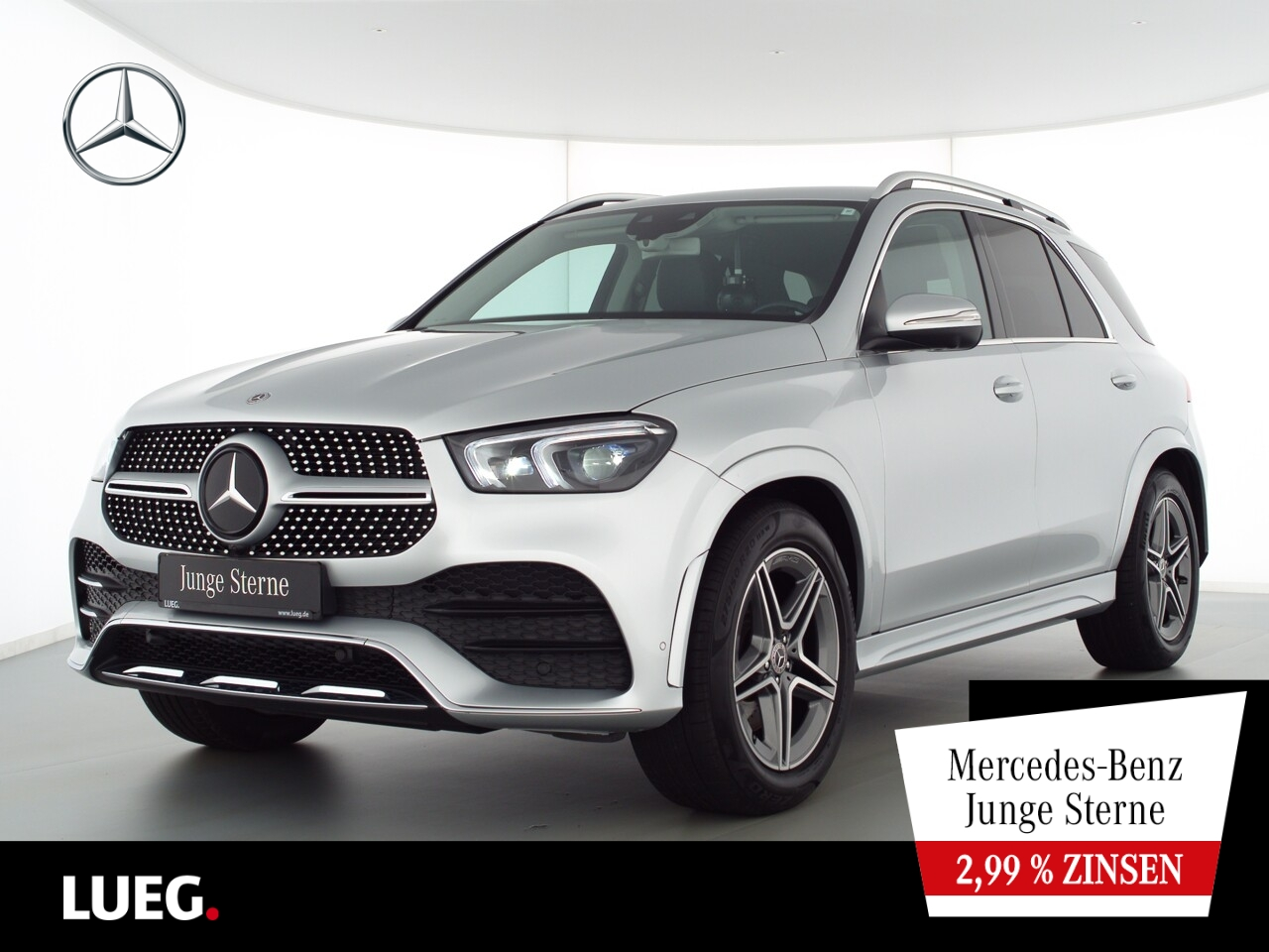 Mercedes-Benz GLE 400 d 4M AMG+MBUX+Mbeam+AHK+Airm+7Sitzer+360, Jahr 2019, Diesel
