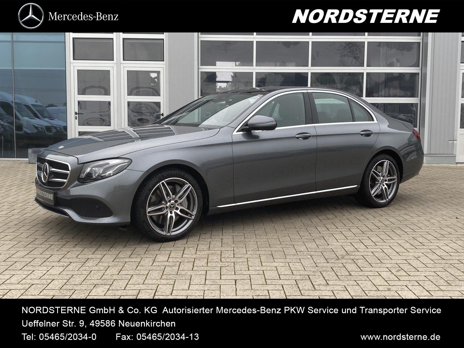 Mercedes-Benz E 450 4MATIC Limousine+AMG-ALU+COM+WIDE+PANO+360, Jahr 2019, Benzin
