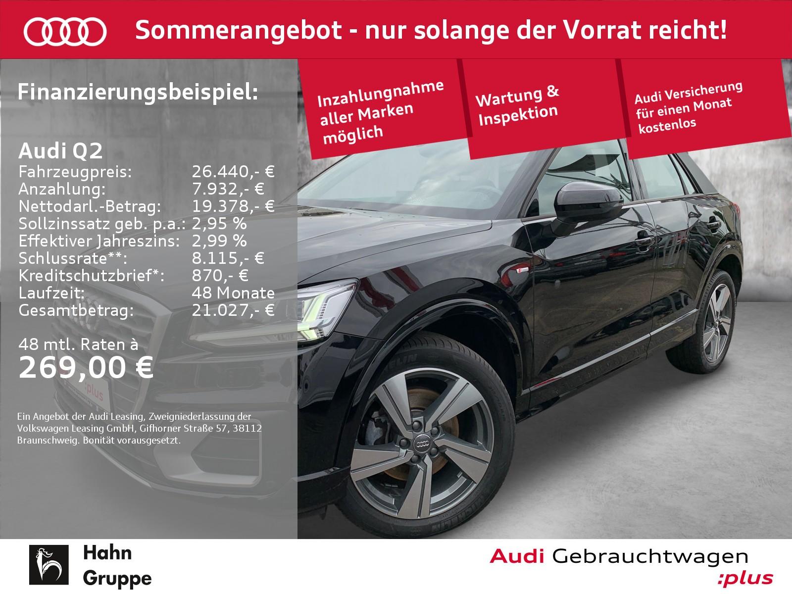 Audi Q2 35TFSI S-line GRA Navi LED Einparkh Sitzh, Jahr 2019, Benzin