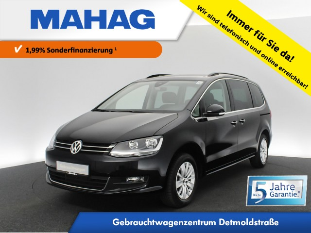 Volkswagen Sharan 1.4 TSI Comfortline 7-Sitzer Navi Sitzhz. ParkPilot FrontAssist 16Zoll DSG, Jahr 2020, Benzin