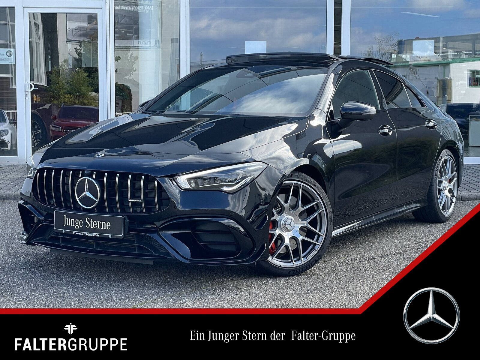"Mercedes-Benz CLA 45 AERO+DYNAMIK+PANO+MLED+NIGHT+AMBIENTE+19"", Jahr 2020, petrol"