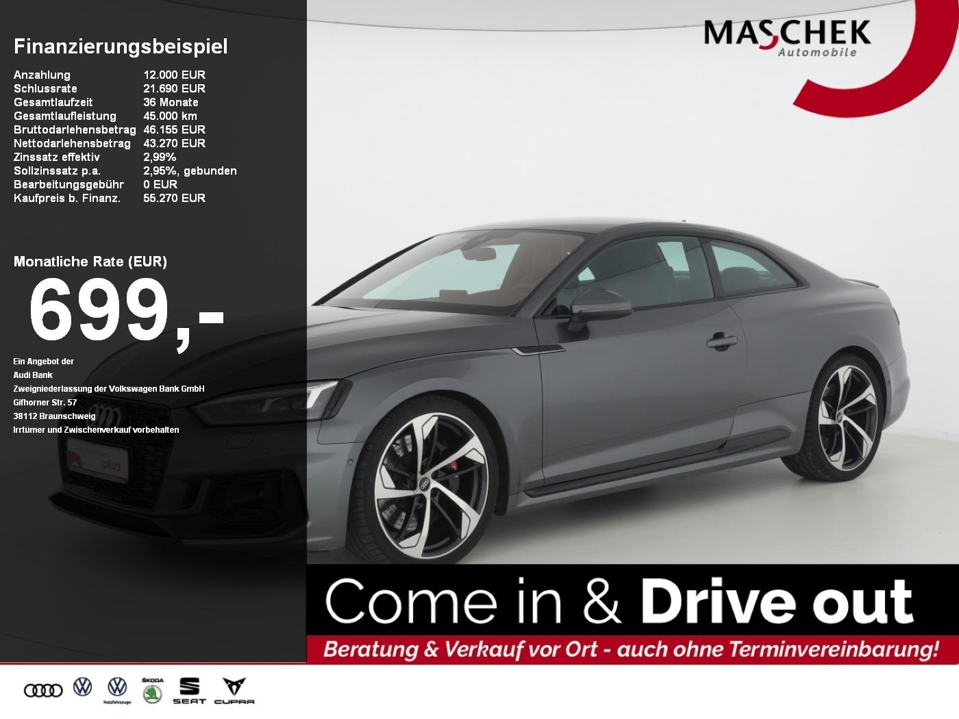 Audi RS5 Coupé BlackEdition RSAGA ACC Matrix virtualc, Jahr 2017, Benzin