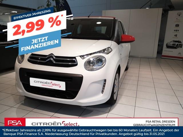 Citroën C1 Airscape VTi 68/5T/SELECTION/Klima/ Faltdach/ ISOFIX, Jahr 2016, Benzin