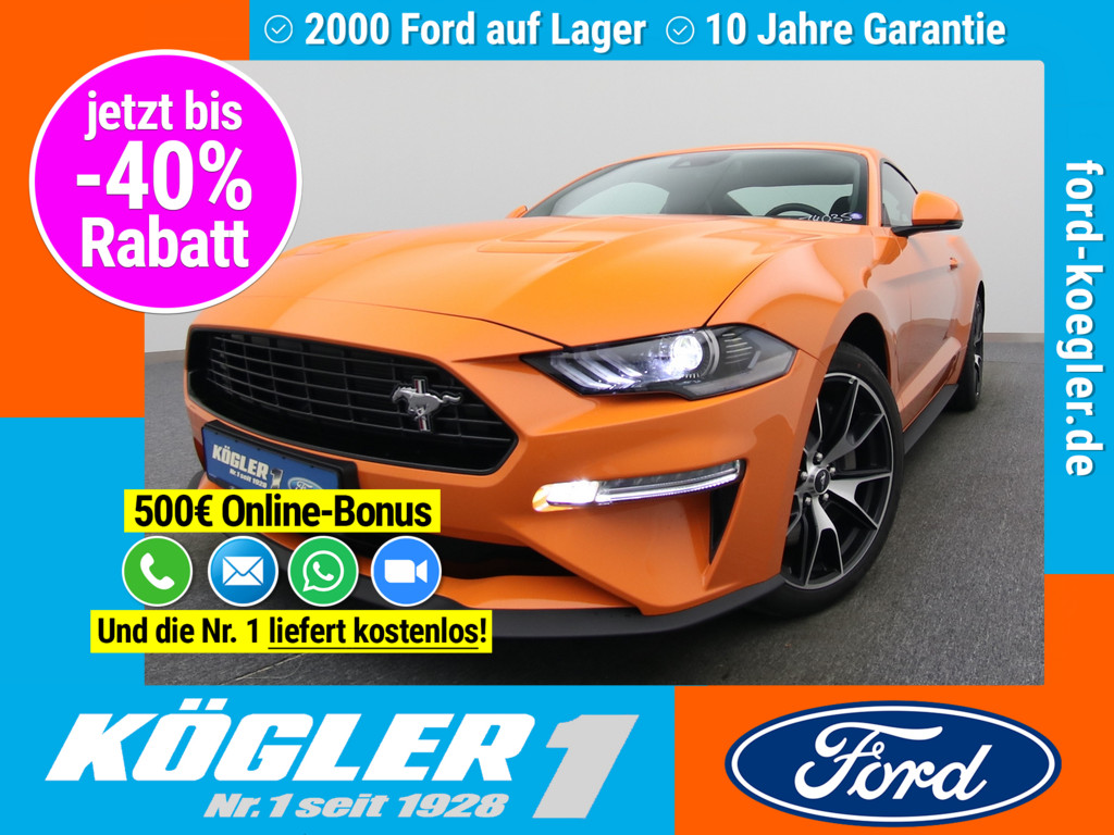 Ford Mustang Fastback 290PS/Carbon-Styling, Jahr 2020, Benzin