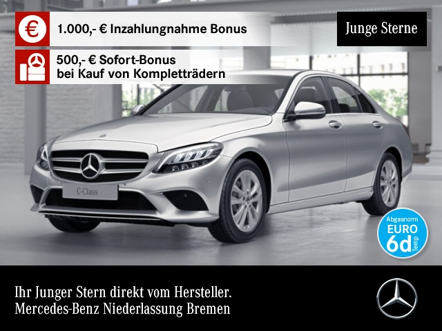 Mercedes-Benz C 180 Avantgarde LED Kamera Spurhalt-Ass SpurPak, Jahr 2019, Benzin