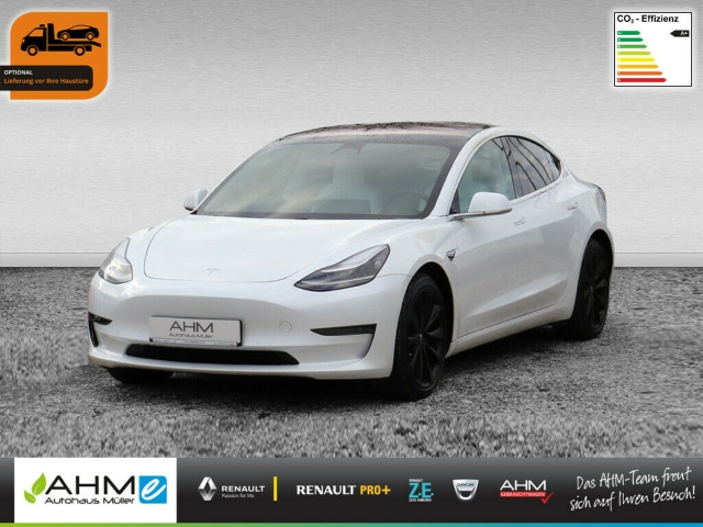 Tesla Model 3 Long Range AWD ON STOCK LED ACC, Jahr 2019, Elektro