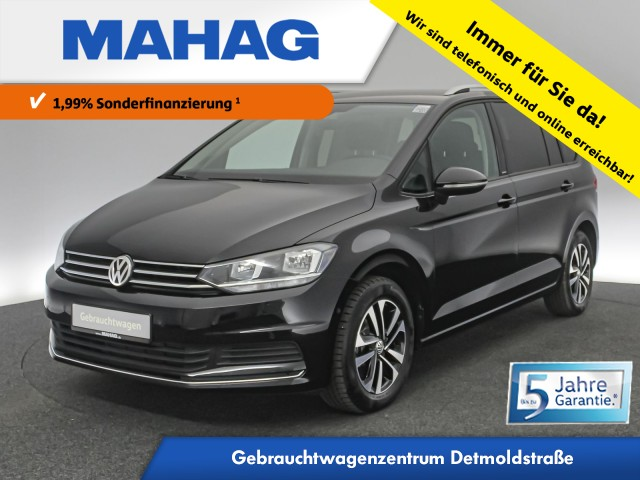 Volkswagen Touran 1.5 TSI IQ.DRIVE 7-Sitzer Navi AppConnect Sitzhz. ParkAssist LightAssist FrontAssist 16Zoll DSG, Jahr 2020, Benzin
