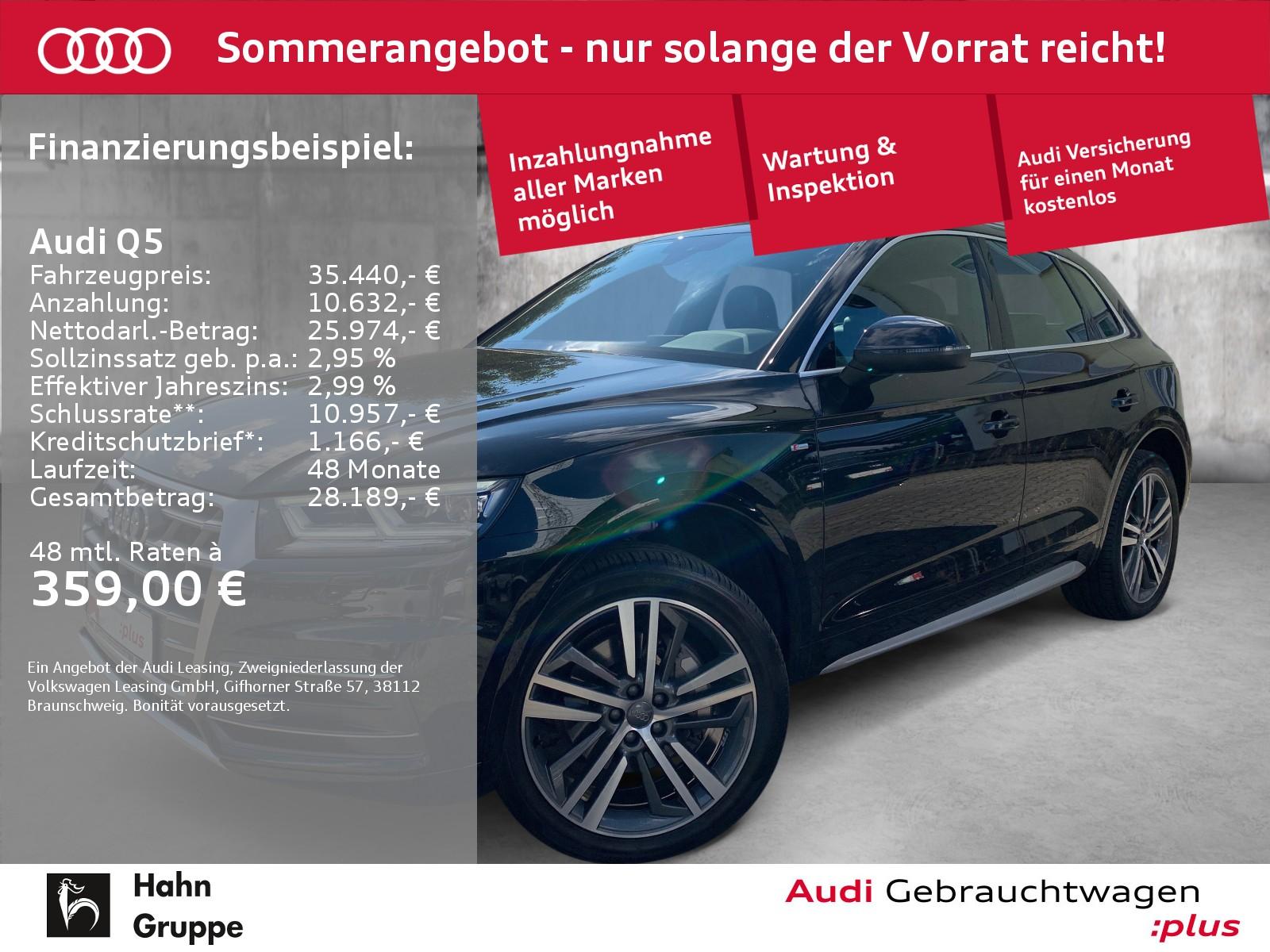 Audi Q5 2.0TFSI qua S-trc S-line EU6 Cam LED Virtual, Jahr 2017, Benzin