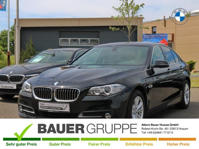 BMW 528 i Leder Kurvenlicht e-Sitze Fernlichtass. El. Heckklappe PDCv+h LED-Tagfahrlicht Multif.Lenkrad, Jahr 2015, Benzin