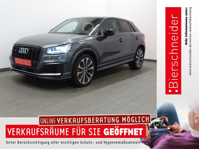 Audi SQ2 2.0 TFSI qu. S tronic 19 LED PANORAMA VIRTUAL AHK ACC NAVI LEDER PDC GRA DAB ASSISTENZ, Jahr 2019, Benzin