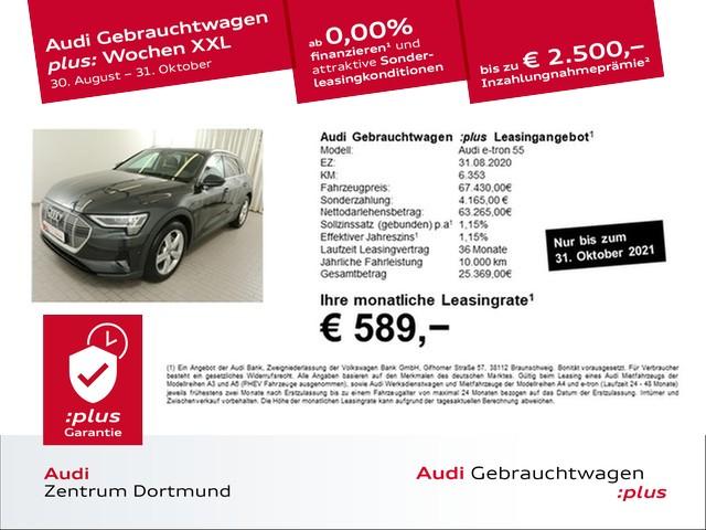 Audi e-tron 55 qu. Leder/ACC/Tour/LM20/KAM, Jahr 2020, Elektro