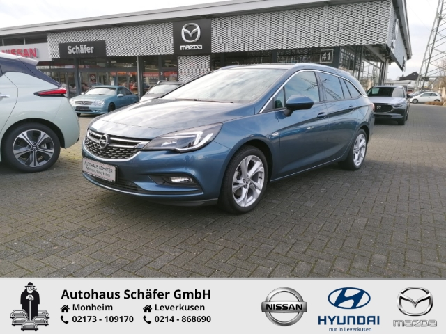 Opel Astra Kombi Sports Tourer INNOVATION 1.6 Turbo Rückfahrkam. AHK-abnehmbar PDCv+h LED-Tagfahrlicht, Jahr 2017, Benzin