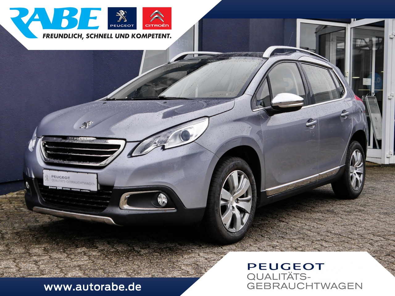 Peugeot 2008 Allure 92 e-HDi NAV+Panorama+Sitzhzg+1.Hand, Jahr 2013, Diesel