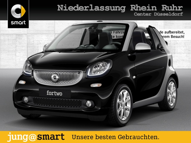 smart fortwo cabrio 66kW prime DCT cool&Media SHZ LED, Jahr 2019, Benzin