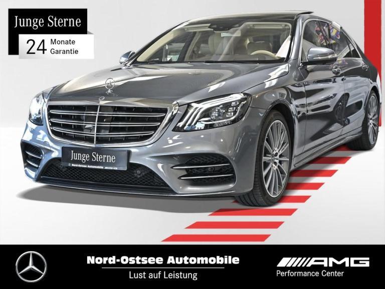 Mercedes-Benz S 560 L AMG-Line Burmester Navi DAB LED 360° Pan, Jahr 2018, Benzin