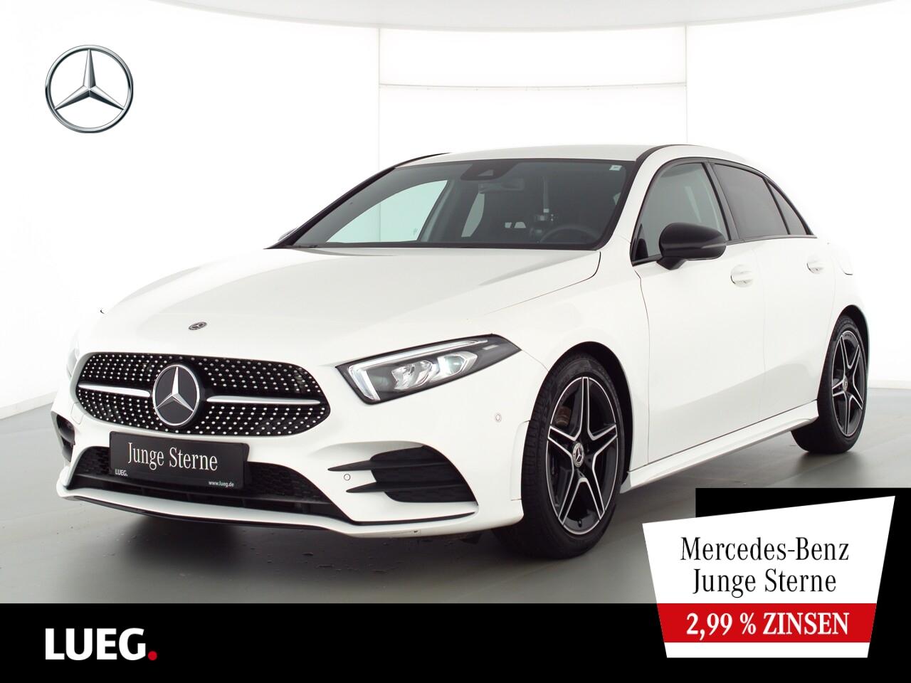 Mercedes-Benz A 200 AMG+MBUX+NavPrem+LED-HP+NightPk+ParkAssist, Jahr 2019, Benzin