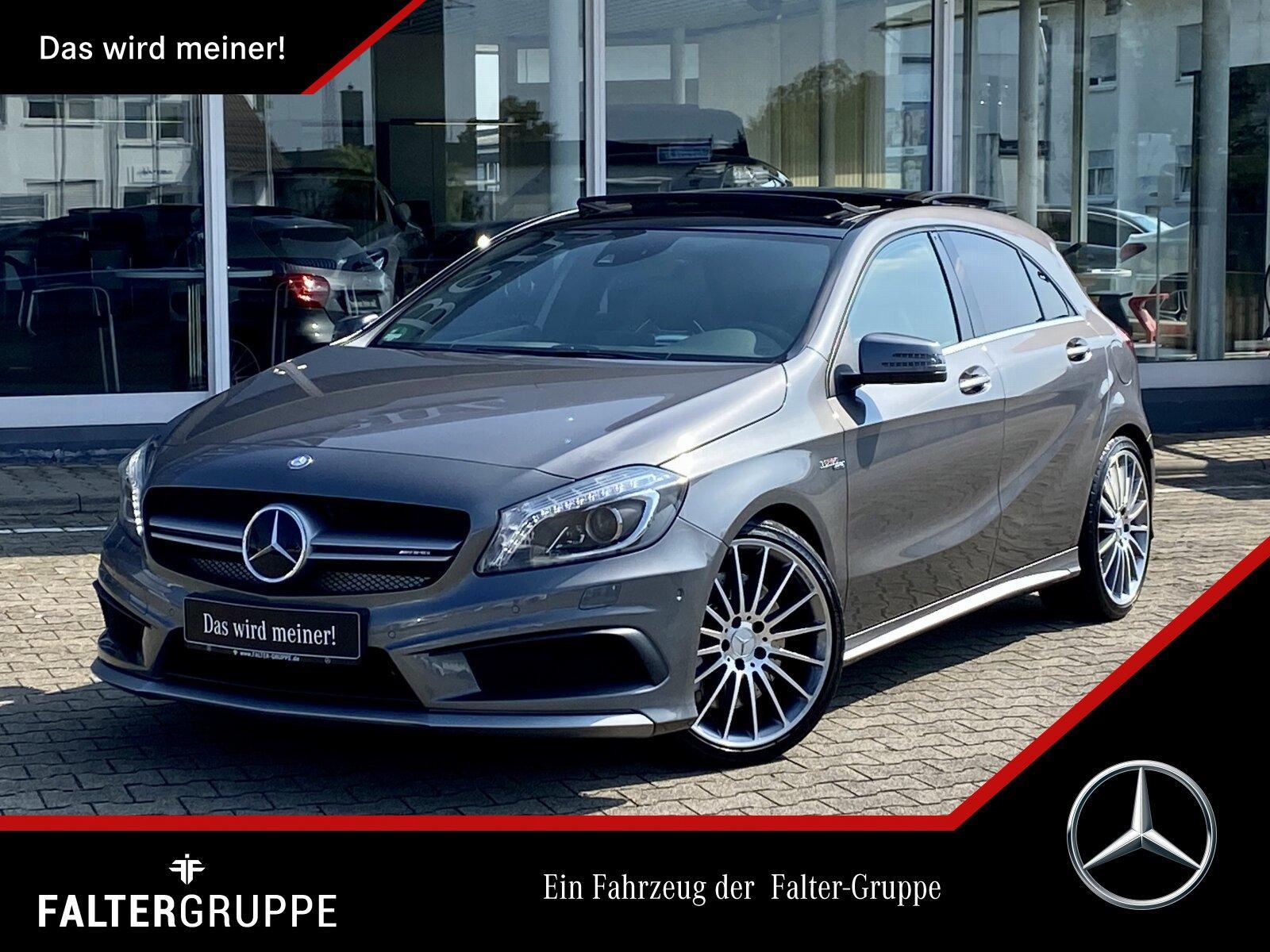 "Mercedes-Benz A 45 AMG 4M PERF.SITZE+PANO+DISTR+KAM+SOUND+19""!, Jahr 2015, petrol"