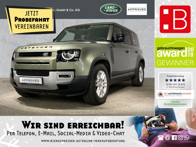 Land Rover Defender 110 D240 S BLACK-PACK, OFF-ROAD PAKET PLUS, WINTER-PAKET, ELEKTR. SITZE, PIVI-PRO, 19, Jahr 2020, Diesel