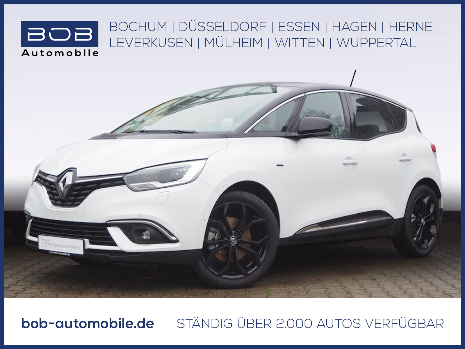 Renault Scenic Black Edition TCe 140 GPF NAVI PDC ALU BT, Jahr 2019, Benzin