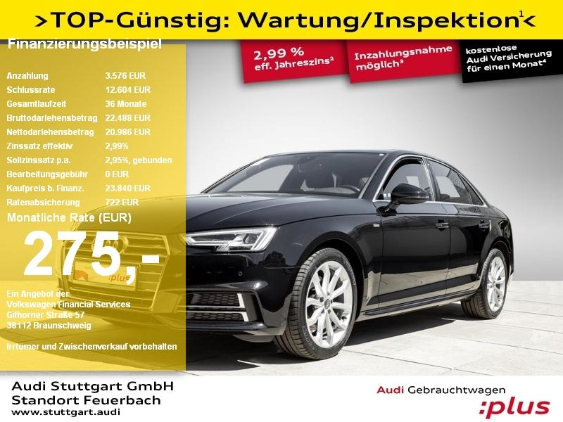 Audi A4 Limousine sport 2.0 TDI S line LED PDC+ Sitzh, Jahr 2018, Diesel