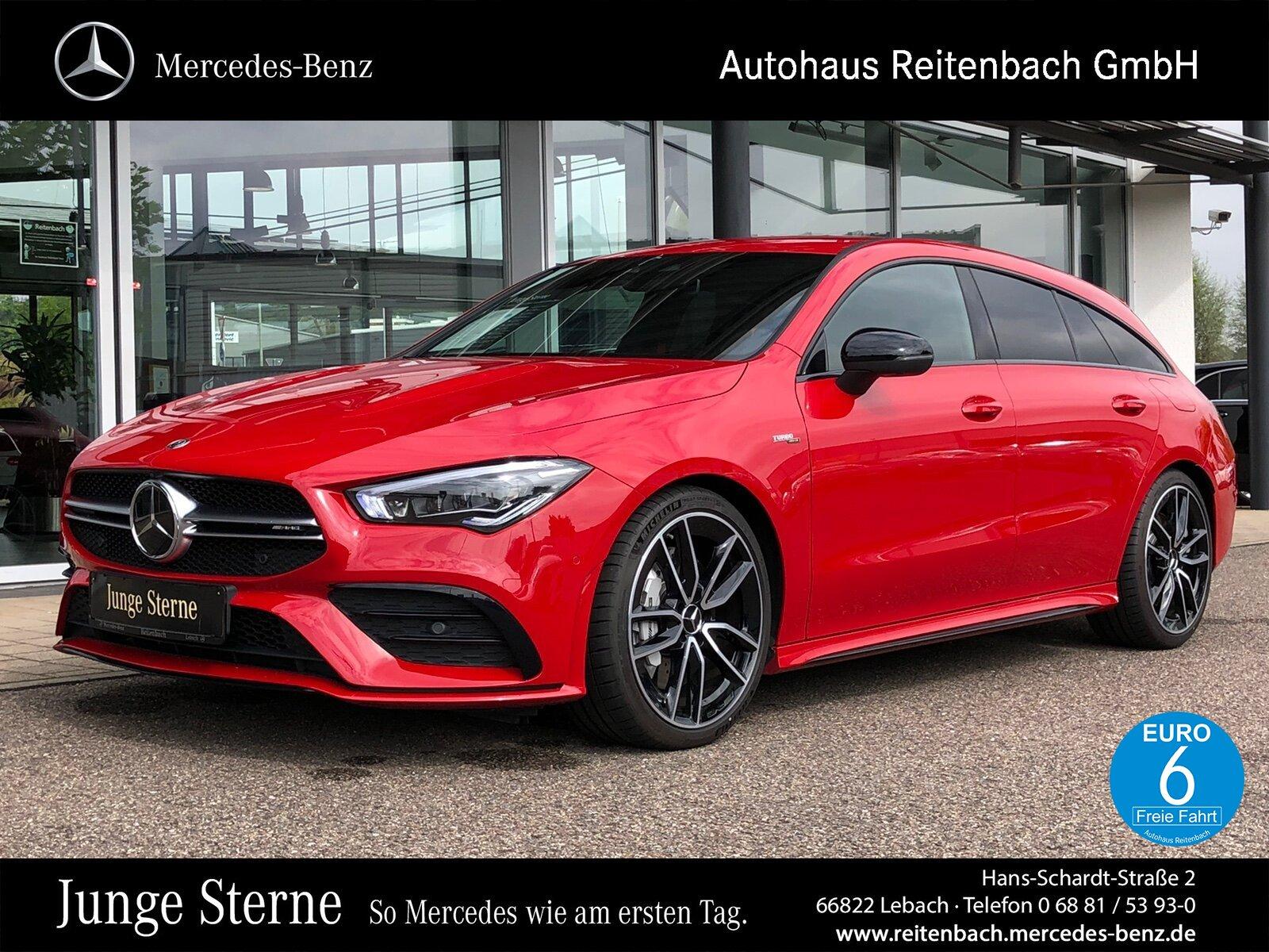 "Mercedes-Benz CLA35 SB 4M AMG+NIGHT+AMBIE+LED MEMORY+360°+19"", Jahr 2019, petrol"