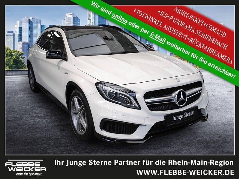 Mercedes-Benz GLA 45 AMG 4M+NIGHT-P.+COMAND+PANO-SHD+ILS+TOTW., Jahr 2015, Benzin