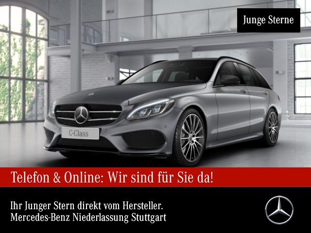 Mercedes-Benz C 400 T 4M AMG Pano Burmester Distr. COMAND AHK 9G, Jahr 2017, Benzin
