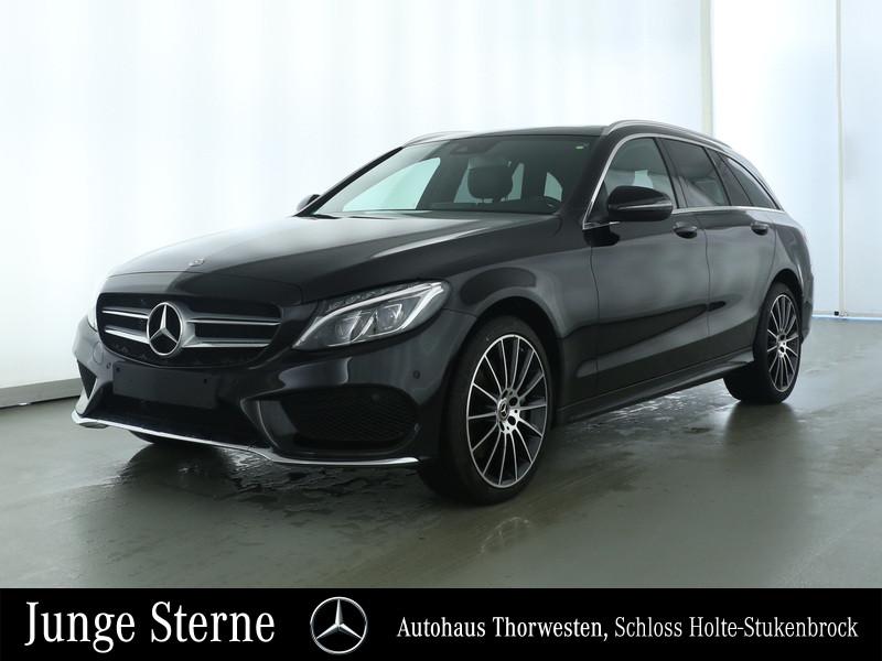 "Mercedes-Benz C 400 4MATIC T 19"" PANORAMA AMG COMAND LED-ILS, Jahr 2018, petrol"
