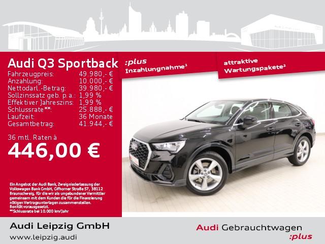 Audi Q3 Sportback 45 TFSI quattro*S tronic*phone box*, Jahr 2021, Benzin