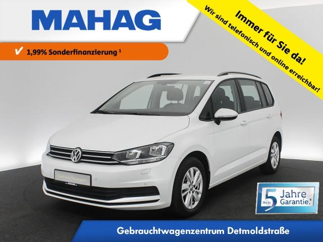 Volkswagen Touran 1.5 TSI Comfortline 7-Sitzer Navi Standhz. ergoActive AppConnect Sitzhz. ParkPilot FrontAssist 16Zoll 6-Gang, Jahr 2019, Benzin