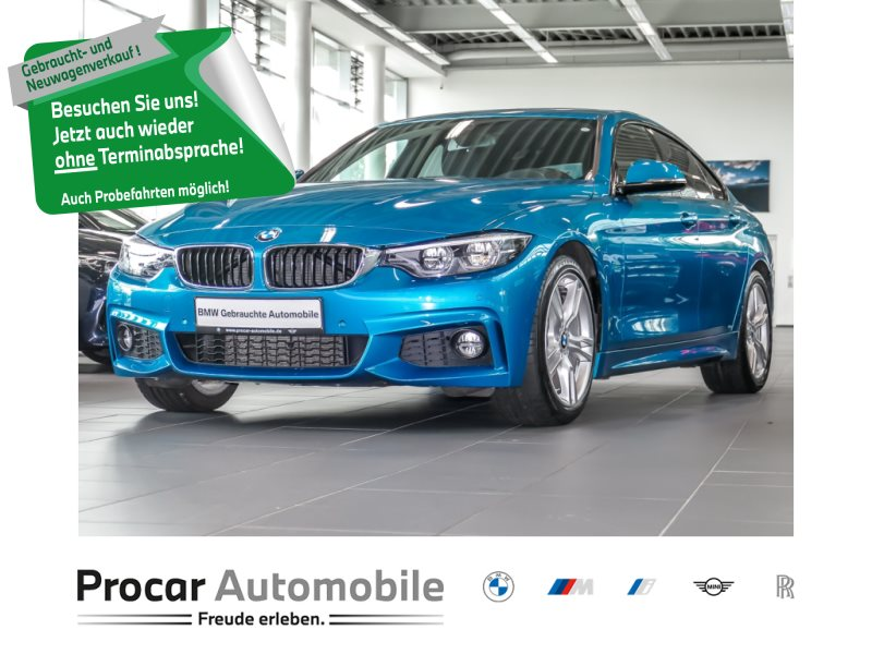 BMW 430i Gran Coupé M Sportpaket Navi Prof. HUD RFK, Jahr 2018, Benzin