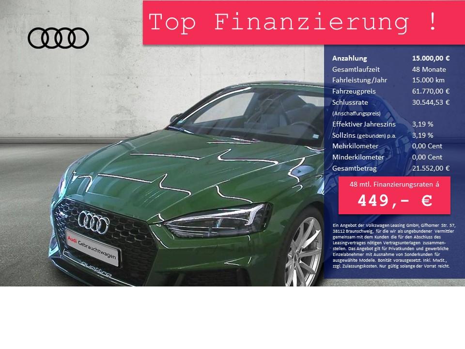 Audi RS 5 2.9 TFSI tiptronic quattro Matrix LED, B&O, Head-Up, NAVI, RS AbGasanlage, Jahr 2018, Benzin