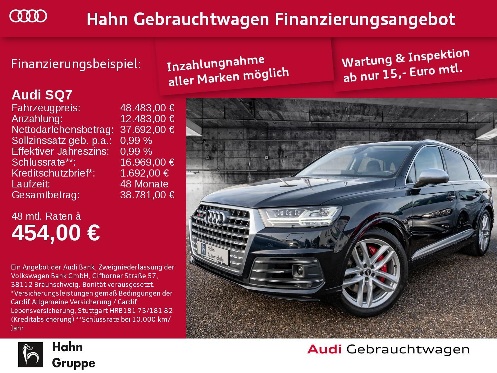 Audi SQ7 4.0TDI EU6 qu LED ACC Standh Head-UP AHK PDC, Jahr 2016, Diesel