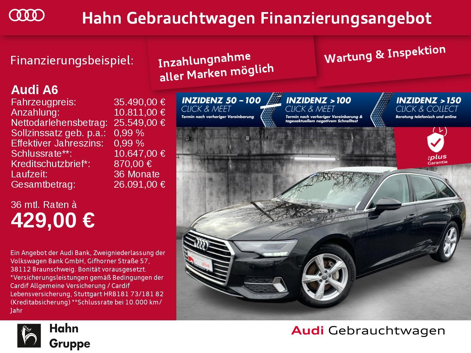 Audi A6 Avant 40TDI S-Trc Sport Navi SitzH Cam Alcantara, Jahr 2019, Diesel