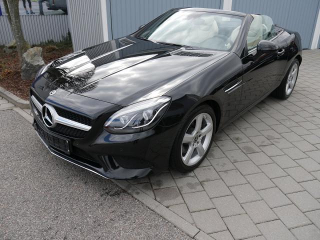 Mercedes-Benz SLC 200 LEDER BEIGE * AIRSCARF LED SCHEINWERF..., Jahr 2018, petrol