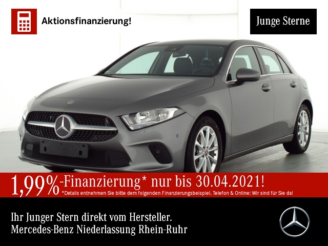 Mercedes-Benz A 180 Progressive Stdhzg Navi Premium AHK PTS Temp, Jahr 2019, Benzin