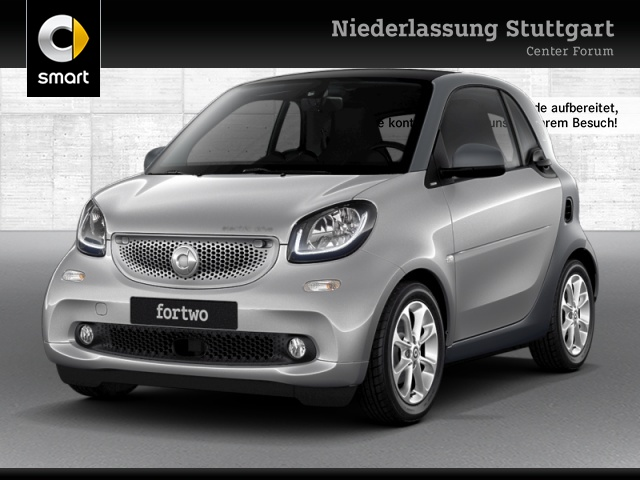 smart fortwo coupé 60kWed passion cool&Media SHZ Pano, Jahr 2017, Elektro