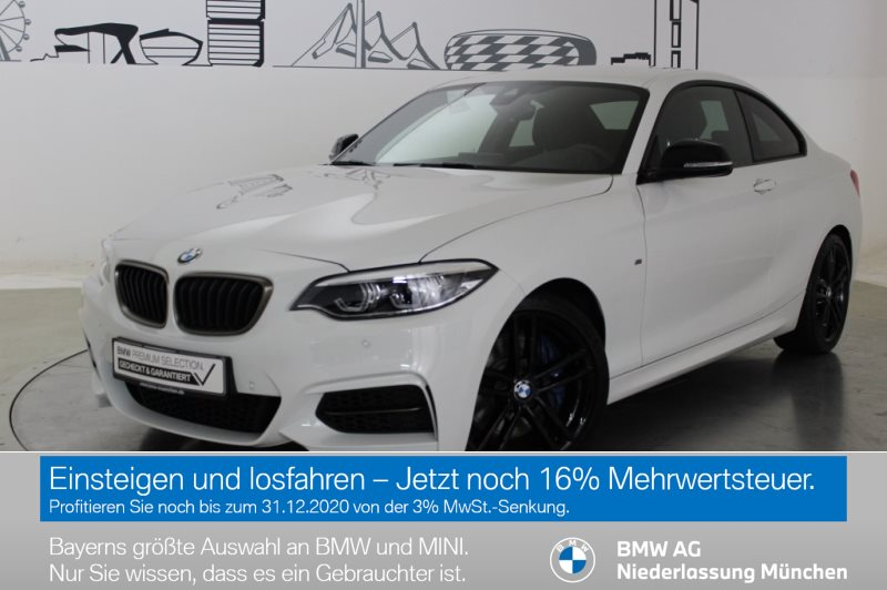 BMW M240i xDrive Coupé M Sportbr. HK HiFi LED RTTI, Jahr 2019, Benzin
