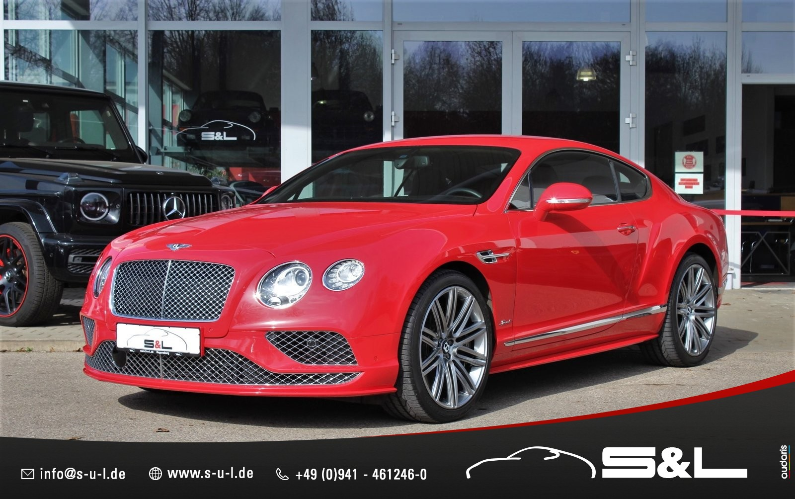 Bentley Continental GT Speed 6.0 W12 / St. James Red, Jahr 2014, Benzin