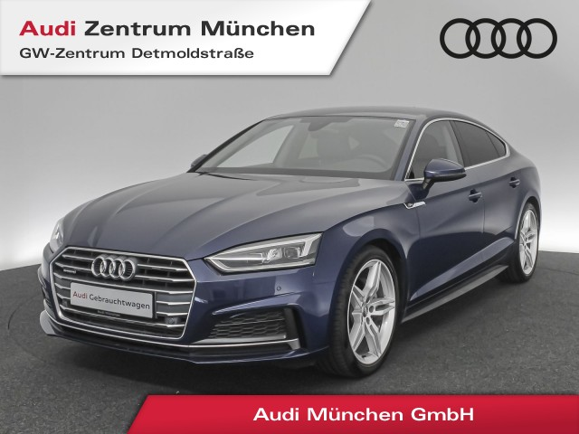 "Audi A5 Sportback 3.0 TDI qu. Sport S line 19"" B&O LED Assistenz Leder Navi R-Kamera S tronic, Jahr 2017, diesel"