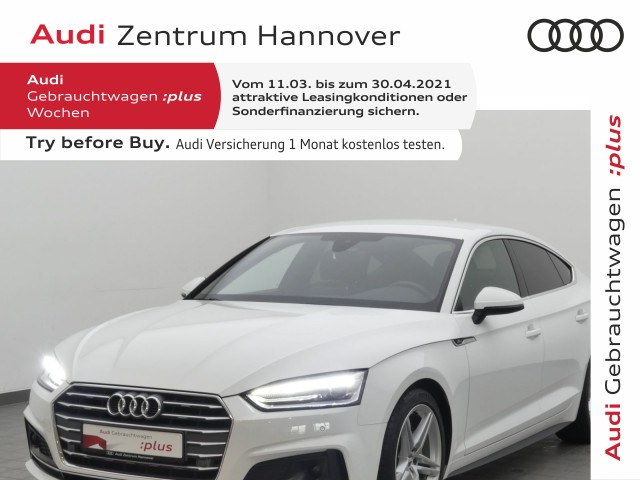 Audi A5 Sportback 40 TDI S line, ACC, Alcantara, Navi, Xenon, Jahr 2019, Diesel