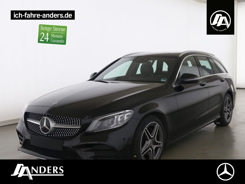 Mercedes-Benz C 220 d T AMG+Navi+Pano+Spur-P.+LED+AHK+SHZ+Kam, Jahr 2020, Diesel